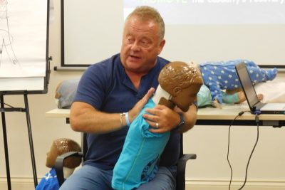 Paediatric First Aid for choking training from Early Years Hub