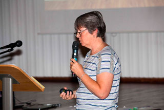 Picture of Sharon Skade delivering Physical Development training